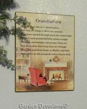 1975 Grandfathers Wood Ploaque Wall Decor Living Quotes Russ Berrie & Co.