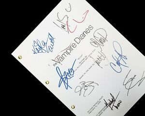 The Vampire Diaries TV Script Pilot Signatures Autographs Reprint TVD Nina Dobre