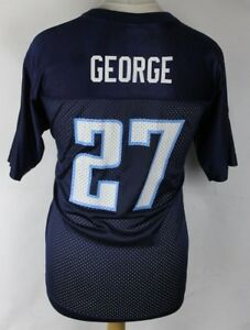 GEORGE #27 Tennessee Titans American Football Jersey Shirt Youths XL NFL