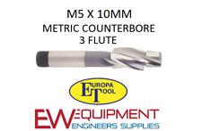 M5 X 10 mm rectificación HSS 3 flauta Europa Herramienta/Clarkson 1512010500