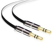 IBRA® 3.5mm Male To Male Stereo Audio Cable (2 Meter) - Flat Design
