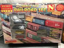 Micro Trains Line Freight Train Set with Locomotive, track & transformer