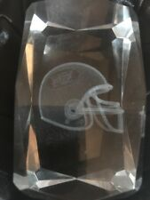 New York Jets Helmet Glass Iceberg Sculpture Paperweight Original Box Rare Art