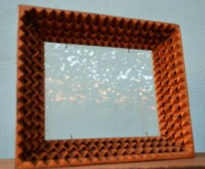 Tramp Art /Folk Art Picture Frame Hand Crafted Wood Frame circa 1930