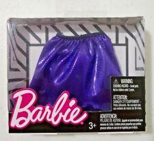 Mattel Barbie Fashion Skirt Doll Clothes Purple Metallic