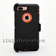 For iPhone 7 & iPhone 8 Defender Shockproof Case Cover w/Holster Belt Clip
