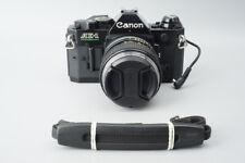 Canon AE-1 AE1 Program 35mm SLR Film Camera, Black w/ Canon FD 100mm f2.8 Lens