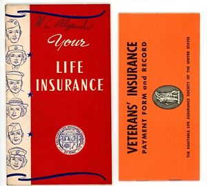 "WWII Era Equitable Life Ins Co of Iowa ""Your Life Insurance"" + Veterans' Ins Rec"
