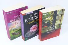 NORA ROBERTS Garten Eden Trilogie Blüte d Tage Dunkle Rosen Rote Lillien 3x Buch