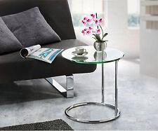 Glas-Beistelltisch, ca. Ø 46 cm, Höhe ca. 48 cm, Sicherheitsglas, Stahlrohr
