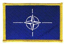 NATO AUFNÄHER Flaggen Fahnen Patch Aufbügler 8x6cm