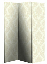 NEW ARTHOUSE CREAM DAMASK SCREEN DRESSING PRIVACY SCREEN ROOM DIVIDER PARTITION