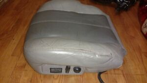 99-02 GMC YUKON DENALI SIERRA 2 TONE Grey LEATHER bottom POWER Seat DRIVER LEFT