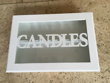 GISELA GRAHAM SHABBY WHITE CHIC CANDLES WOODEN STORAGE BOX
