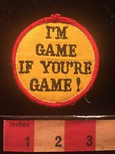 Chic Vintage Retro Patch  ~ I'M GAME IF YOU'RE GAME 66E8