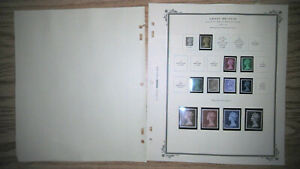 GREAT BRITAIN MACHINE HEAD COLLECTION ON SCOTT ALBUM PAGES, ALL MINT, MOSTLY MNH