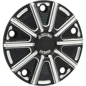 Black Machined 10-Gauge Timer / Points Cover for Harley Twin Cam 99-17
