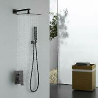 Oil Rubbed Bronze Shower System Bathroom 8 inch Rain Mixer Shower Combo Set