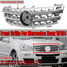 Front Hood Bumper Silver Chrome Grill Grille for Mercedes ML Class W164 05-08