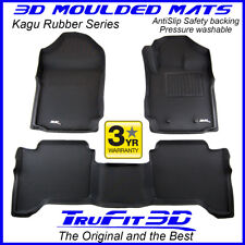 Fit Ford Ranger Raptor PX3 Dual Cab 2018-2019 Genuine 3D Black Rubber Floor Mats