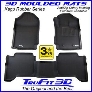 Fit Ford Ranger Raptor PX3 Dual Cab 2018-2021 Genuine 3D Black Rubber Floor Mats