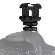 3 Hot Shoe Mount Holder Bracket Adapter for LED Video Light Monitor Mic Camera