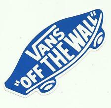Vans Off The Wall-adesivo blu-Snowboard Skateboard bmx surf