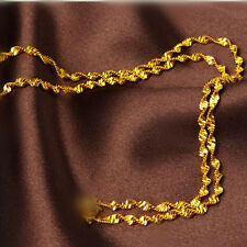 """Wholesale 20"""" Making Jewelry Double Water Wave 18K Gold Filled Necklaces Chains"""
