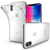 Ultra Thin Silicone Case For The Apple iPhone X Clear TPU Gel Back Phone Cover @