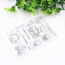 Gril Transparent Clear Silicone Stamp Seal  Scrapbooking Photo Album DecorsA