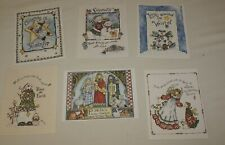Greeting Cards Christmas Lot 6 Folk Art Snow Angel Star Tree Child Nature Unused