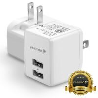 1x Fast Dual USB Wall Charger Plug Adapter for Samsung Galaxy S10 S9 Note 9 Fold