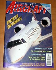 Aircraft Illustrated 2000 January Caledonian,F-8 Crusader,Harrier,RCAF,Embraer