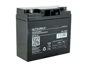 ULTRAMAX NP18-12, 12V 18Ah Sealed Lead Acid - AGM - VRLA Battery