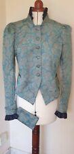 Unique Blue short jacket Military Steampunk Victoriana Bohemian Costume 10-12