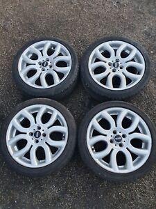 "Genuine Mini Cooper R55 R56 R57 17"" Alloy Wheels & Tyres 205/45/R17 - Good Tyres"