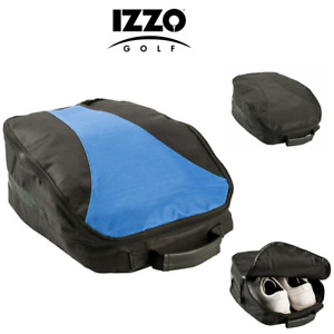 Izzo Golf Shoe Bag, Nylon Zipped, Water Resistant, Ventilated, Inner Pocket