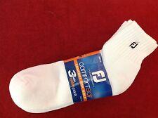 FootJoy Mens ComfortSof 1/4 (Quarter) Golf Socks - 3 Pack