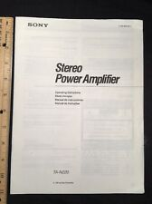 Sony TA-N220 Stereo Power Amp Original Owners Manual Multi Language tan220 A16