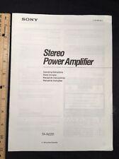 Sony TA-N220 Stereo Power Amp Original Owners Manual Multi Language tan220 A16