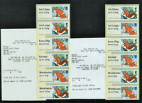 ERROR FUR & FEATHERS 10 DAYS EARLY SET of 2 COLLECTOR STRIPS Post Go & RECEIPTS