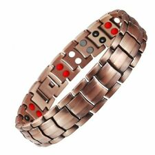 Unisex Copper Therapeutic Energy Healing Magnetic Bracelet Therapy Arthritis US