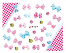 Nail Art 3D Decals Transfers Stickers Jo Bows (E217)