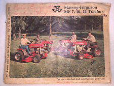 Massey-Ferguson Mf 7 10 12 Lawn Tractor Advertising Brochure 1968
