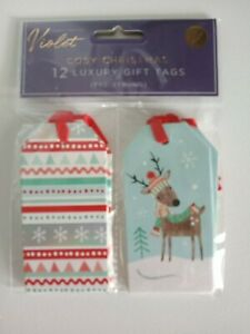 12 luxury nordic design christmas gift tags