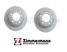 Porsche 911 84-89 Pair Set of 2 Rear Solid Vented Disc Brake Rotors Zimmermann