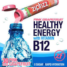 ZipFizz Pink Grapefruit Flavor Healthy Energy Drink Mix w/ Vitamin B12 30 Tubes