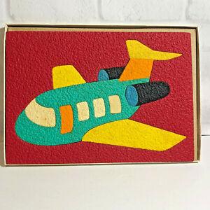 Lauri Crepe Rubber Foam Airplane Puzzle Vintage 1970's