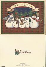VINTAGE CAMERA CLOCK 1 CHRISTMAS SNOWMAN SNOW FAMILY PLAID CARDINAL BIRD CARD
