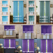 2 Piece Beautiful Sheer Window Elegance Curtains drape panels treatment